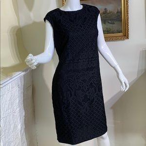 Ralph Lauren Black Lace Sheath Dress